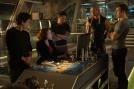 Marvel's Avengers: Age Of Ultron L to R: Bruce Banner (Mark Ruffalo), Natasha Romanoff (Scarlett Johansson), Tony Stark (Robert Downey Jr.), Thor (Chris Hemsworth) and Steve Rogers (Chris Evans) Ph: Jay Maidment ©Marvel 2015